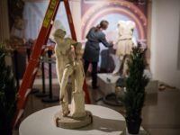 """A behind-the-scenes look at the installation of the """"Leisure and Luxury"""" exhibit, which showcases artifacts from a villa that may have belonged to one of Nero's wives. The time frame is about 50 BC to 79 AD, from the era of Julius Caesar through the eruption of Mt. Vesuvius."""
