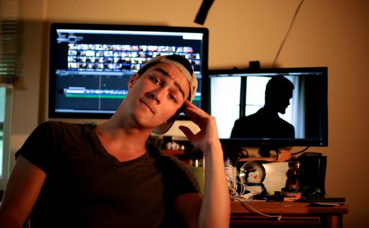 "Ben Foote is the supervising editor for ""Thru Traffic"", a film created by U-M students for the Traverse City Film Festival."