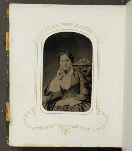 Arabella Chapman, tintype photograph, Album I, Courtesy the University of Michigan William L. Clements Library