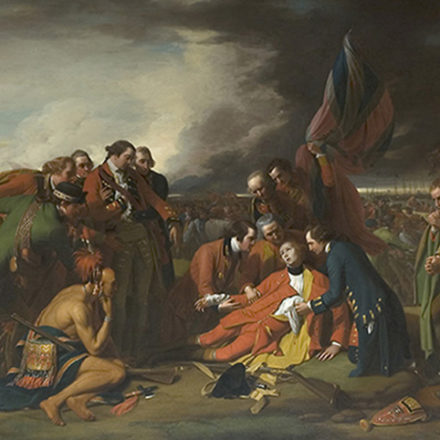 Benjamin West. The Death of General Wolfe. 1776.