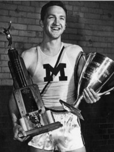 As a student, Ufer set a world record in track. He also set a number of U-M varsity records. Image courtesy U-M's Bentley Historical Library.