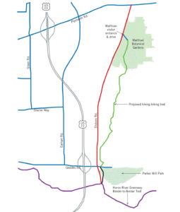 The recreational trail will provide a link from U-M's Matthaei Botanical Gardens to Washtenaw County's Parker Mill Park.