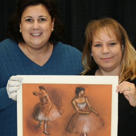 French artist Edgar Degas produced nearly 1,500 works involving ballet dancers. This one, one of the most notable finds Verderame has seen as an appraiser, was discovered inside a chair purchased at a garage sale. Image courtesy of Lori Verderame.