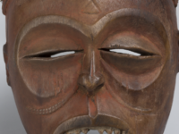 Artist unrecorded, Chokwe peoples, Angola, the Democratic Republic of the Congo and Zambia, Pwo (woman) mask, date unrecorded, wood, tukula powder. Photo courtesy U-M Museum of Art.