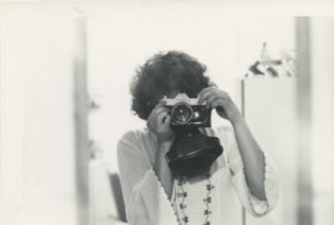 Nancy De Los Santos self-portrait. Circa 1975. Photo courtesy Nancy De Los Santos.