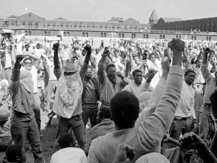 Inmates at the Attica Correctional Facility.