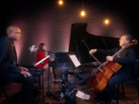 Yo Yo Ma, Aaron Dworkin and Lara Downes performed a short cello-spoken word-piano piece to celebrate and make a statement about the power and purpose of the arts in America.