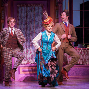 """Gavin Creel (right) dances with Bette Midler and Taylor Trensch in """"Hello Dolly!"""" Creel won a 2017 Tony Award for his role as Cornelius Hackl. Courtesy of Julieta Cervantes."""