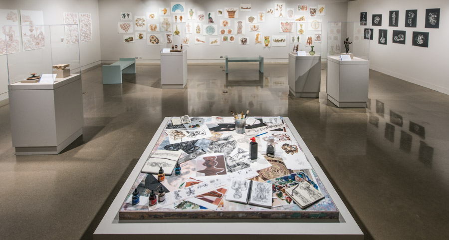 Visit the Kelsey Museum for a behind the scenes look at Jim Cogswell's process when creating 'Cosmogonic Tattoos.'