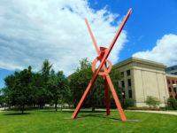 'Orion' by Mark di Suvero, outside of the U-M Museum of Art.