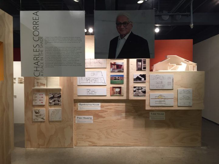 """A Place in the Shade: Selected Projects by Charles Correa"" is exhibition featuring 13 projects from six decades of work. It runs at the Taubman College Gallery runs through Sept. 22 Photo Credit: Run Yu"