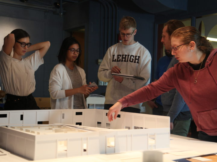 Students in an engaged learning workshop called Practice Sessions will work on a mock-up design over a long weekend. Photo courtesy of Michelle Bonin.