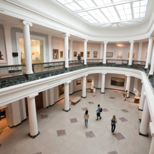 The interior of the U-M Museum of Art.