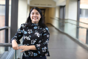 Sheila García from Grand Rapids, Mich., is one of the three fellows part of a new Resident Librarian program that focuses on diversity at University of Michigan.