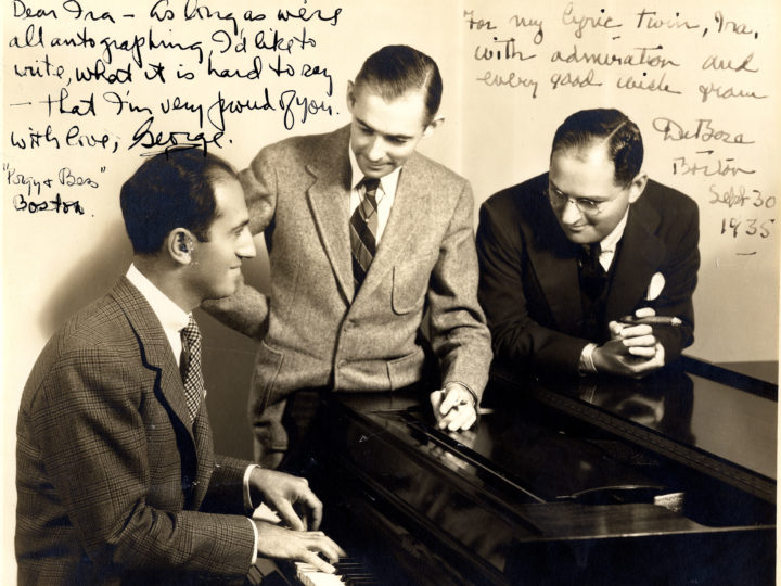 George Gershwin, DuBose Heyward, & Ira Gershwin, Boston, September 30, 1935. Photo by Vandamm Studio, NY. Photo courtesy of the Ira & Leonore Gershwin Trusts