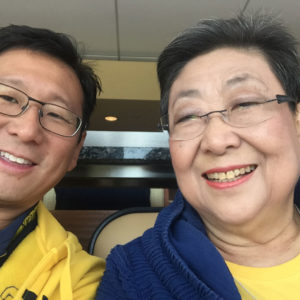 Andy Nam with his mother Moon-Sook Nam.