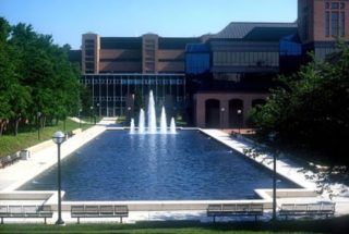 North Campus reflecting pool