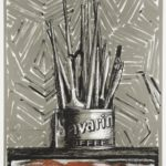 Jasper Johns, Savarin, 1977—81, color lithograph on paper. University of Michigan Muse-um of Art, Bequest of Gertrude Kasle, 2016/2.92. Art © Jasper Johns and ULAE/Licensed by VAGA, New York, NY, Pub-lished by Universal Limited Art Editions