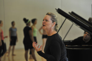 Ruth Andrien during a rehearsal for 'Le Sacredu Printemps' with the University Dance Company