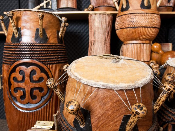 Ghanaian fontomfrom drums.