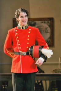 "Darren Criss, ""Glee"" star, in a December 2008 production of 'Pride and Prejudice.' Photo by Peter Smith."
