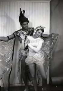 James Earl Jones in Aristophanes's 'The Birds,' 1952. Photo courtesy U-M School of Music, Theatre & Dance.