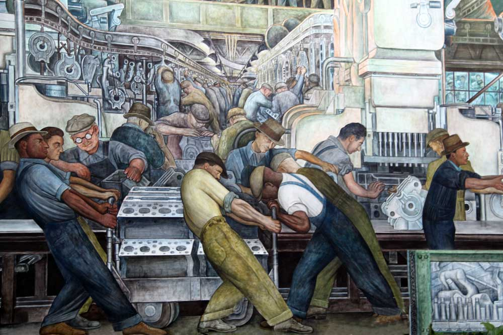 Diego Rivera mural, courtesy Detroit Institute of Arts