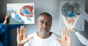"""I came to prison with blood on my hands; I will leave with paint on them,"" Johnny Trice."