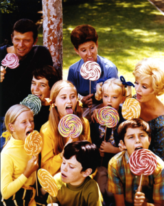 Sunshine, lollipops, and Ann B. Davis along with the rest of the cast from The Brady Bunch. (Bentley image HS15012)