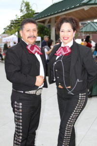 Mariachi musicians who performed at the 2015 Hispanic Heritage Celebration in Hart, MI.