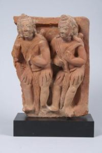 Portion of a Ramayana narrative frieze, India, Gupta period (320–647 CE), 5th century, terracotta. Gift of Professor Walter M. and Nesta R. Spink, 2012