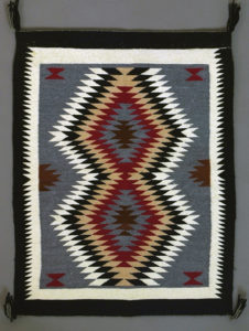 Navajo weaving, artist unknown, wool on cotton warp, Arizona c. 1970, Warner Collection; University of Michigan Museum of Anthropological Archeology