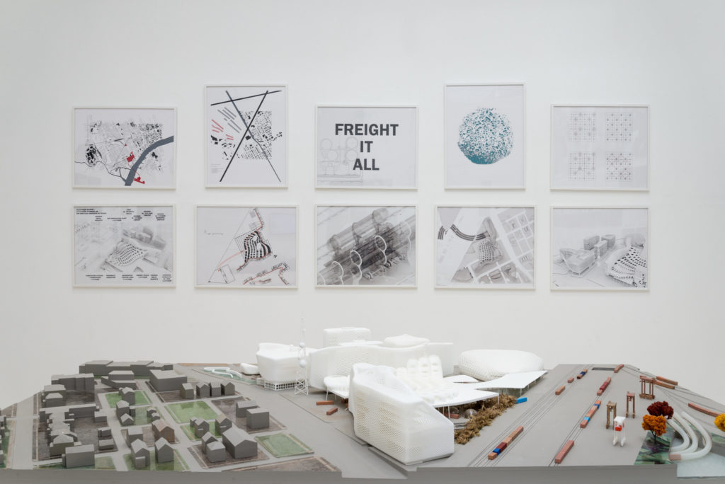 """A featured speculative project for Detroit's Mexicantown for """"The Architectural Imagination"""" by A(n) Office of Detroit, MI (V. Mitch McEwen; Marcelo López-Dinardi). Photo by Stefano Rubini."""