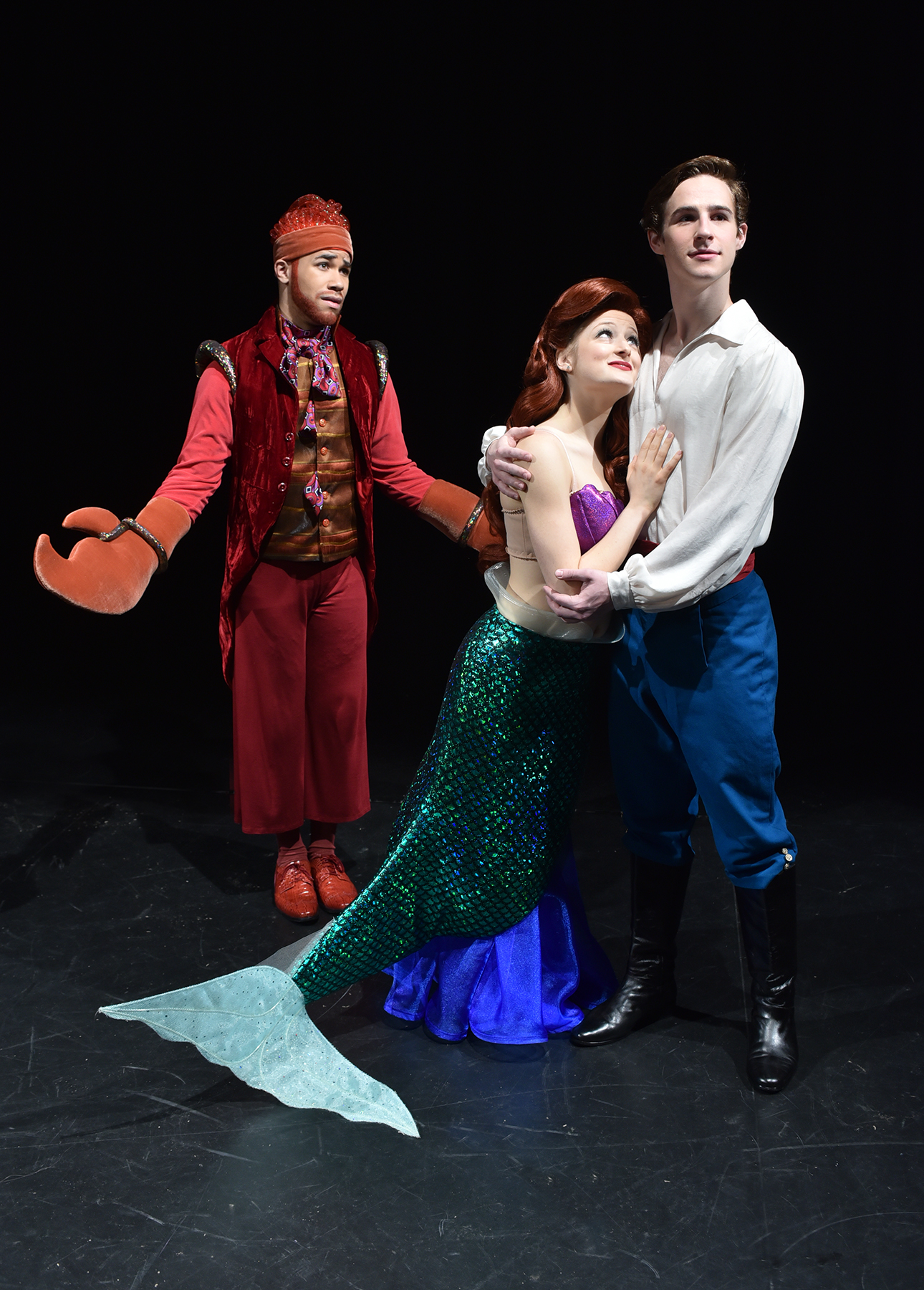 ... on in disbelief at Ariel (Halli Toland) and Prince Eric (Trevor Carr) in the Department of Musical Theatreu0027s production of Disneyu0027s u201cThe Little Mermaid.  sc 1 st  Arts u0026 Culture - University of Michigan & The Department of Musical Theatre presents Disneyu0027s The Little ...