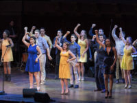 """""""The Victors"""" performed by Department of Musical Theatre Majors on stage during True Blue, A Tribute to Michigan, part of the UMICH200 Spring Festival at Hill Auditorium. Photo by Roger Hart, Michigan Photography"""