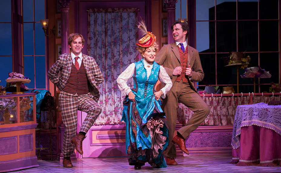 "Gavin Creel (right) dances with Bette Midler and Taylor Trensch in ""Hello Dolly!"" Creel won a 2017 Tony Award for his role as Cornelius Hackl. Courtesy of Julieta Cervantes."