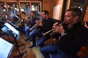 NY Phil Brass Quintet at Off The Grid Ann Arbor Edition at Avalon Cafe. Photo by Peter Smith