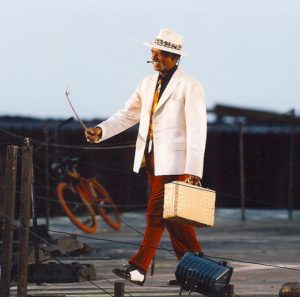"Emeritus professor George Shirley as Sportin' life in a 1998 production of ""Porgy and Bess"" mounted on the floating stage at the Bregenz festival in Austria."