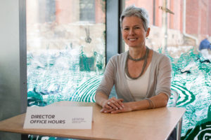 Christina Olsen, director of the U-M Museum of Art, will host open office hours in February, March and April. Photo by Dave Lawrence.