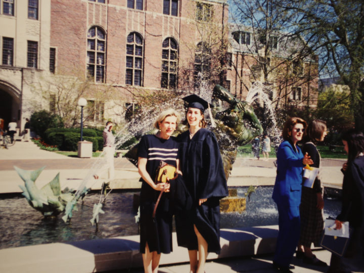 Missy Fette (right) graduated from U-M in 1999. Her mother, Nancy Fette, received her Michigan diploma in 1966.