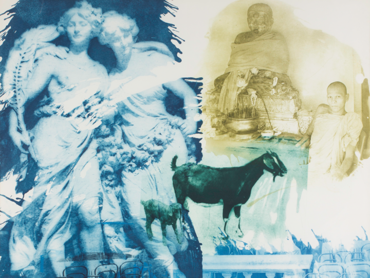 Robert Rauschenberg, Intermission, from the series Ground Rules,1996, intaglio on paper. University of Michigan Museum of Art, Bequest of Gertrude Kasle, 2016/2.109. © Robert Rauschenberg Foundation and Universal Limited Art Editions, West Islip