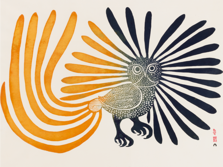 Kenojuak Ashevak (Cape Dorset 1927-2013), ​The Enchanted Owl​, 1960, stonecut