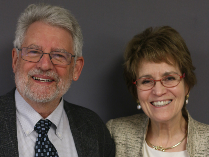 President Emerita Mary Sue Coleman (right) and former Provost Paul Courant. Photo courtesy StoryCorps.