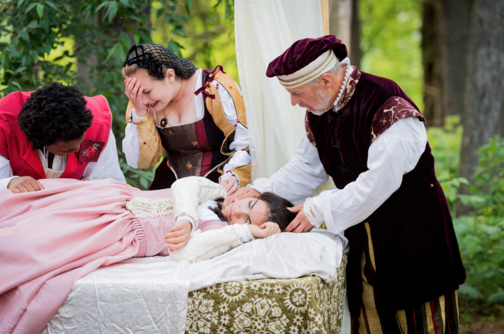 """For the first time in its 18-year history, Shakespeare in the Arb presents """"Romeo and Juliet."""" Here, Juliet is played by Maria LoCicero. Photo by Daryl Marshke, Michigan Photography."""