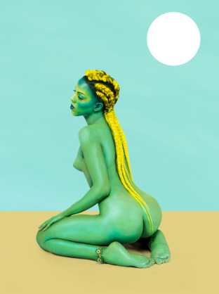 Juliana Huxtable, Untitled in the Rage (Nibiru Cataclysm), 2015 Inkjet print, 40 x 30 inches (101.6 x 76.2 cm), A.P. 1, edition of 3. Solomon R. Guggenheim Museum, New York, Purchased with funds contributed by Stephen J. Javaras 2015.15 © Juliana Huxtable.