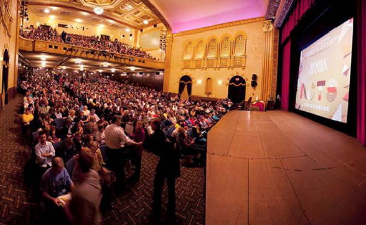 The Penny Stamps Distinguished Speaker Series takes place every Thursday at the Michigan Theater in downtown Ann Arbor.