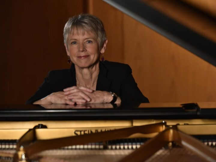 Ellen Rowe, jazz pianist, composer and Arthur F. Thurnau professor of jazz and contemporary improvisation at the University of Michigan's School of Music, Theatre & Dance. Photograph by Peter Smith.