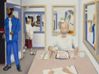 """The Printer: A Portrait of Prison"" by Christopher A. Levitt will be featured in the 24th Annual Exhibition of Art by Michigan Prisoners."