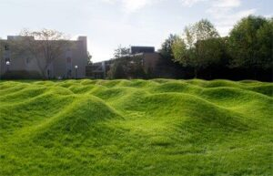"""Maya Lin's """"Wave Field"""" is located on U-M's north campus."""