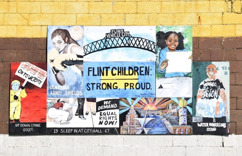 """Flint"" will be accompanied by an art exhibition in the U-M Duderstadt Center art gallery April 7-11. Photo by Rachel Francisco."